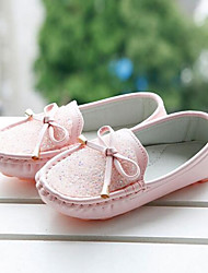 Girls' Shoes Outdoor Leatherette Flats Spring Comfort Flat Heel Pink / White