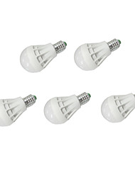 7W E26/E27 Ampoules Globe LED A60(A19) 12 SMD 5630 550 lm Blanc Chaud / Blanc Froid AC 100-240 / AC 110-130 V 5 pièces