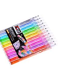 0,5 пластиковые бизнес гелевые ручки (12 цветов)
