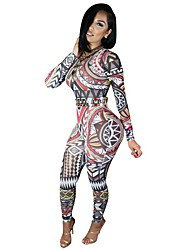Classic & Traditional Totems Vintage Piece Pants Long Sleeve MultiColor Terylene Cosplay