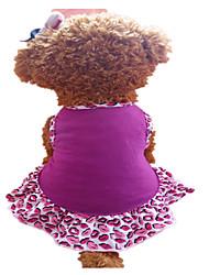 Perros Vestidos Morado Ropa para Perro Verano Labios Moda