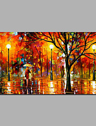 Modern Knife Painting Bright Color Wall Art Home Decor Ready To Hang Colorful Design