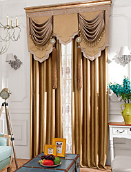 Finished curtains for Solid color embossed curtain fabric full shade cloth thickened double no valance