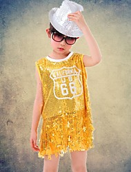 Jazz Outfits Children's Performance Polyester / Sequined Tassel(s) 2 Pieces Sleeveless Top / ShortsXS:41cm S:44cm M:48cm L:51cm XL:54cm