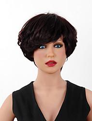 монолитным супер естественные короткие волнистые человеческие волосы основные моменты париков 15 цветов на выбор