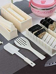 Sushi-Kochen Werkzeuge DIY 10 Stück Sushi-Maker-Sushi-Rolle Werkzeuge Reisbällchen Form