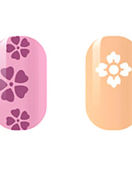 Purple/White Flower Hollow Nail Stickers