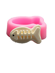 Fish bones Shaped  Soap Molds Mooncake Mould Fondant Cake Chocolate Silicone Mold, Decoration Tools Bakeware