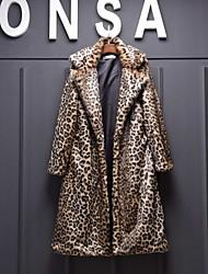 Cappotti in pelliccia - Maniche lunghe - di Pelliccia sintetica - Come nell'immagine
