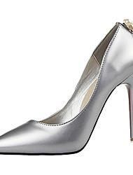 Women's Heels Summer Heels Fleece Casual Stiletto Heel Others Black / Green / Silver / Gray / Fuchsia Others