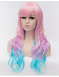 Fashion European Ombre Curly 80cm Cosplay Wigs Anime wig