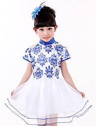 Performance Dresses Children's Performance Spandex / Polyester Tiers 1 Piece Sleeveless Dress XS:56cm S:58cm M:60cm L:62cm