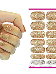 Nail Art Stickers Metallic Petals Gem Pearl Series Decor Nail Decal Manicure Styling Tools Foil Decals