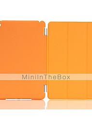 / réveil pu couvercle du boîtier pliant solide de sommeil couleur automatique pour Mini iPad 4 (couleurs assorties)