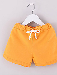 2016 Summer Male Clothing Girls Candy Color Capris Child Short Trousers