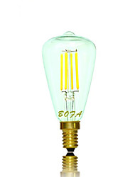 NO Lâmpada Redonda LED Regulável / Decorativa E14 / E12 3W 200-300 lm 2200K 2700K K Branco Quente 4 COB 1 pç AC 220-240 / AC 110-130 V