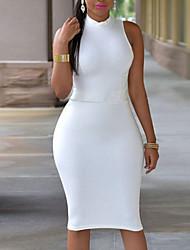 Women's Sexy Solid Bodycon Dress,Halter Above Knee Spandex