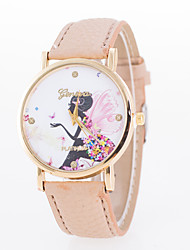 Women's Fashion Elegant European Style Angel Wings Flower Butterfly Fairy Wrist Watch Cool Watches Unique Watches