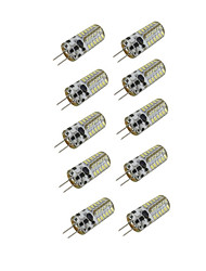 10pcs 3w g4 48xsmd3014 300lm led bi-broches (dc 12v)