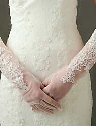Elbow Length Fingertips Glove Nylon / Elastic Satin Bridal Gloves / Party/ Evening Gloves