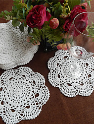 Set of 24 Pcs 20cm Round Handmade Crochet Table Doilies