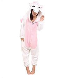 Kigurumi Pajamas Unicorn Leotard/Onesie Festival/Holiday Animal Sleepwear Halloween Pink Patchwork Coral fleece Kigurumi For Unisex