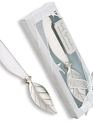 Chrome Leaf  Butter Spreader Bridal Shower Favors, Baby Shower Favors