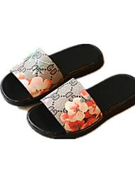 Negro / Rojo) -Confort / Zapatillas-Semicuero