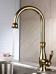 Centerset Single Handle One Hole with Ti-PVD Kitchen faucet