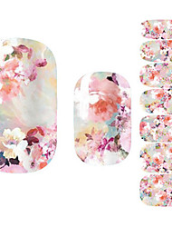 Fashion Women Pink Flower 3D Nail Art Stickers Decal Diy Manicure 1Pc