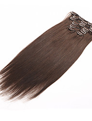 Clip In Human Hair Extensions Brazilian Virgin Hair Clip In Extension Straight 7Pcs/set 70g