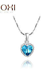 ROXI Silver Blue Heart Pendant Necklace Jewelry