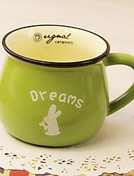 classique créative céramique verte tasse tasse