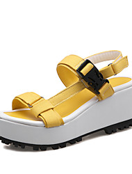 Women's Shoes Canvas Wedge Heel Wedges / Platform / Gladiator Sandals Outdoor / Dress / Casual Yellow / Pink / Orange