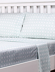 "Sheet Set,Contracted to thicken the grinding bed is tasted suite bed sheets MAO dai li 4pcs with 12"" Pocket Depth"