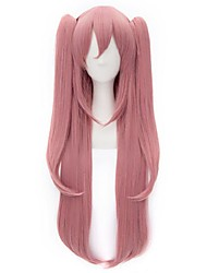 Fashion Style Pink Long Straight Cosplay Wigs