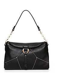 NAWO Women Cowhide Shoulder Bag Black-N152091