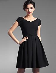 Baoyan® Women's V Neck Short Sleeve Above Knee Dress-160066
