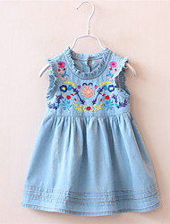 Baby Summer Children Baby Girls Dress Clothing Kids Clothes Ruffle Tank Skirts Casual Denim Dress