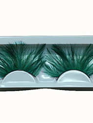 Hot Fashion Lady Green Eyelashes Sexy Feather False Eyelashes for Wedding Party