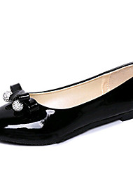 Women's Shoes PU Flat Heel Ballerina Flats Outdoor / Office & Career / Dress / Casual Black / Pink / White