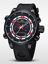 WEIDE® Men's Brand Luxury Analog & Digital Double Time Black Rubber Quartz Watch Cool Watch Unique Watch