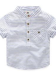 Jungen T-Shirt - Baumwolle Gestreift Sommer / Ganzjährig / Frühling / Herbst