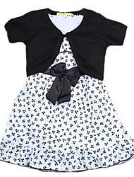 Girl's Black Dress Cotton Summer / Spring