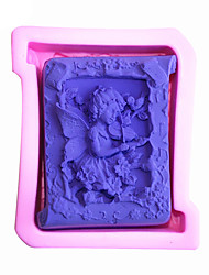 Angel  Shaped  Soap Molds Mooncake Mould Fondant Cake Chocolate Silicone Mold, Decoration Tools Bakeware