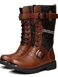 Herren Stiefel Komfort Roller-Skate Schuhe Cowboystiefel / Westernstiefel Springerstiefel maßgeschneiderte WerkstoffeFrühling Sommer