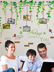 Romance Mode Paysage Stickers muraux Autocollants avion Autocollants muraux décoratifs Autocollants photo Matériel AmovibleDécoration