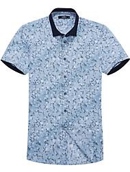 Sieben Brand® Herren Hemdkragen Kurze Ärmel Shirt & Bluse Grün-704A3E2948