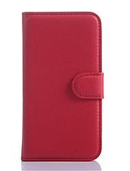 Pour Samsung Galaxy Coque Porte Carte Portefeuille Avec Support Clapet Coque Coque Intégrale Coque Couleur Pleine Cuir PU pour SamsungS5