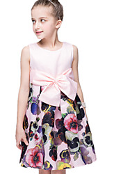 Girl's Pink Dress Polyester Summer
